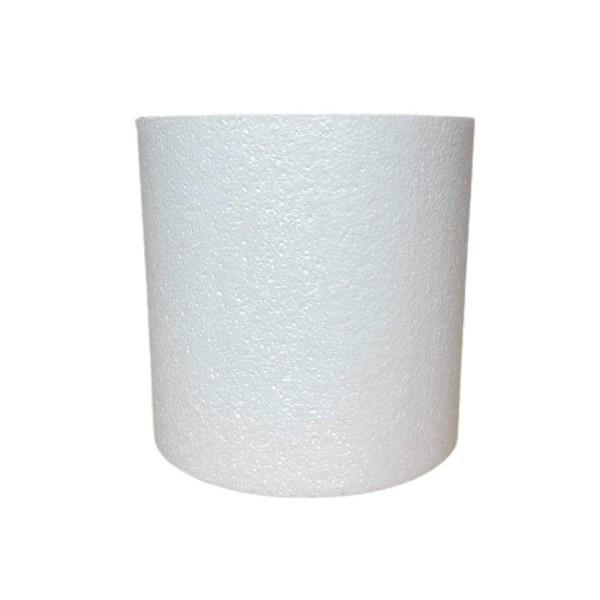 Cylindre en polystyrène  Diamètre 20cm x Hauteur  20cm, Colonne en Styropor blanc de densité Pro, 28 - Photo n°1