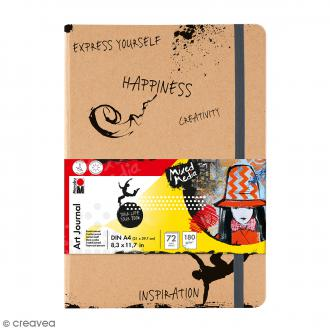 Journal créatif - Art Journal - Mixed Media - A4 - 72 pages