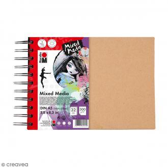 Carnet créatif - Art Journal - Mixed Media - A5 - 32 pages