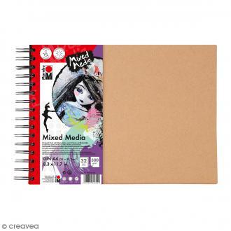 Carnet créatif - Art Journal - Mixed Media - A4 - 32 pages