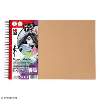 Carnet créatif - Art Journal - Mixed Media - A3 - 32 pages