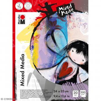 Carnet de croquis - Mixed Media - 34 x 32 cm - 20 pages