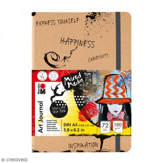 Journal créatif - Art Journal - Mixed Media - A5 - 72 pages