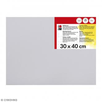 Carton entoilé en coton blanc - 30 x 40 cm