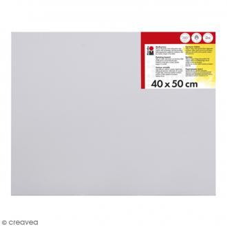 Carton entoilé en coton blanc - 40 x 50 cm