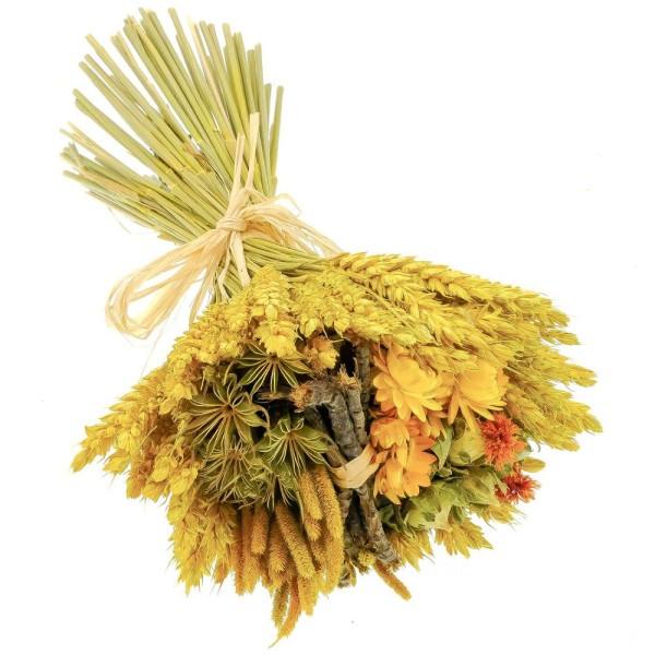 Bouquet de fleurs séchées composé jaune - 30 cm - Photo n°3