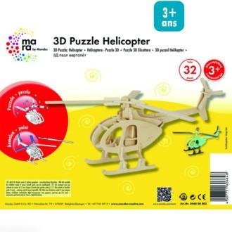 Puzzle 3D en bois à monter - Hélicoptère - 32 pcs