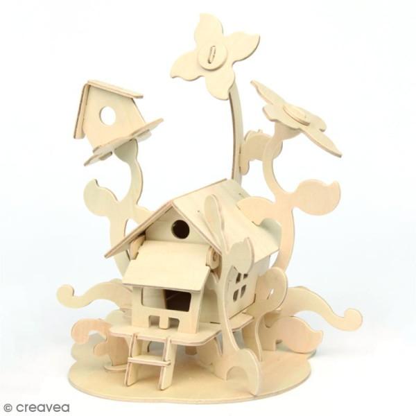 Puzzle 3D en bois à monter - Maison de fée - 43 pcs - Photo n°2