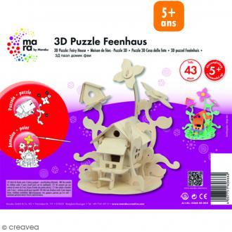 Puzzle 3D en bois à monter - Maison de fée - 43 pcs