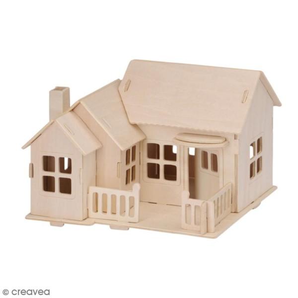 Puzzle 3D en bois à monter - Maison de plage - 27 pcs - Photo n°2