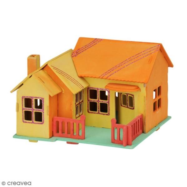 Puzzle 3D en bois à monter - Maison de plage - 27 pcs - Photo n°3