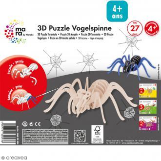 Puzzle 3D en bois à monter - Araignée - 27 pcs