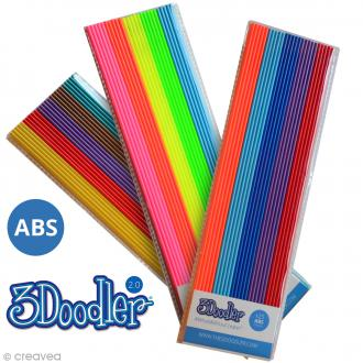 Recharge bâton plastique ABS Stylo 3D - 25 pcs