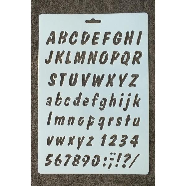POCHOIR PLASTIQUE 26*18cm : alphabet (01) - Photo n°1