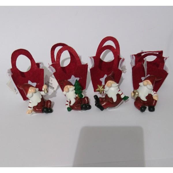 Lot de 4 petits Père Noël - Photo n°2