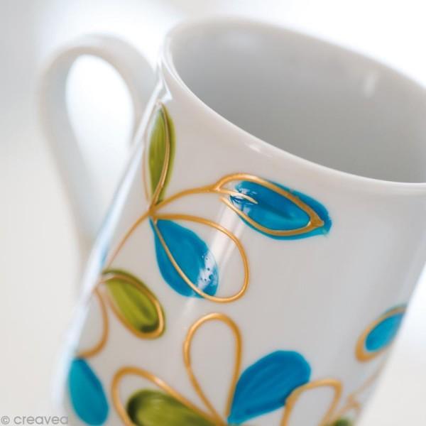 Peinture porcelaine P150 effet brillant - 45 ml - Photo n°6