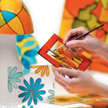 Peinture sur verre V160 effet moiré  - 45 ml - Photo n°4