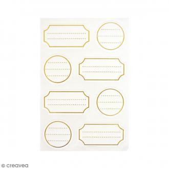 Mini étiquettes à lignes - Or - 32 pcs