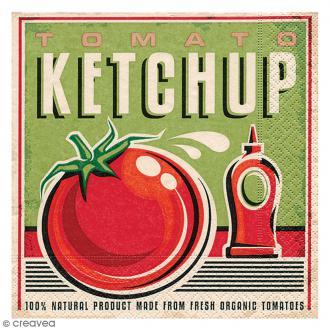Serviette en papier - Vintage Tomato ketchup