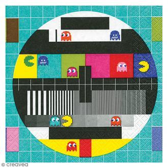 Serviette en papier - TV Pacman