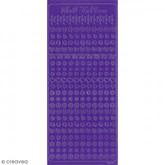 Peel off nail art - Nail tattoo - Violet foncé - 250 pcs