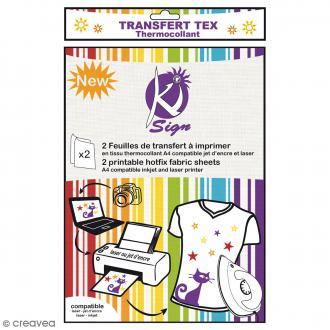 Papier transfert textile pour impression - A4 - 2 pcs