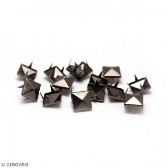 Clous à griffes - Carrés - Noir - 8 x 8 mm - 40 pcs