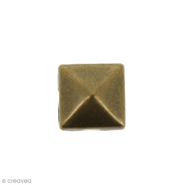 Clous à griffes - Carrés - Bronze - 8 x 8 mm - 40 pcs - Photo n°2