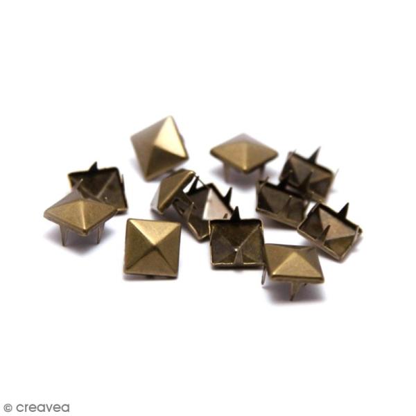 Clous à griffes - Carrés - Bronze - 8 x 8 mm - 40 pcs - Photo n°1