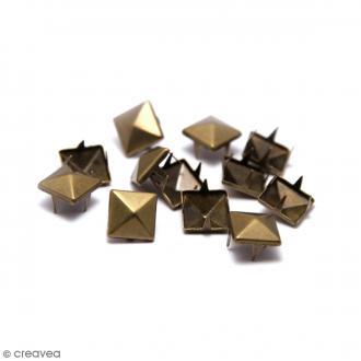 Clous à griffes - Carrés - Bronze - 10 x 10 mm - 30 pcs