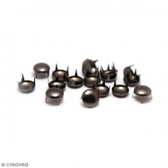 Clous à griffes - Ronds - Noir - 8 x 8 mm - 40 pcs