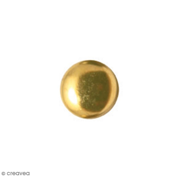 Clous à griffes - Ronds - Or - 6 x 6 mm - 60 pcs - Photo n°2