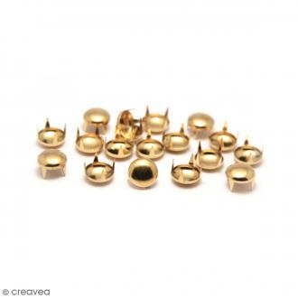 Clous à griffes - Ronds - Or - 6 x 6 mm - 60 pcs