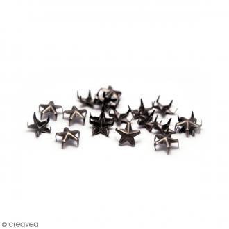 Clous à griffes - Etoiles - Noir - 7 mm - 40 pcs