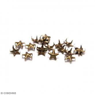 Clous à griffes - Etoiles - Bronze - 7 mm - 40 pcs