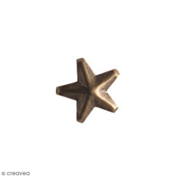 Clous à griffes - Etoiles - Bronze - 10 mm - 30 pcs - Photo n°2