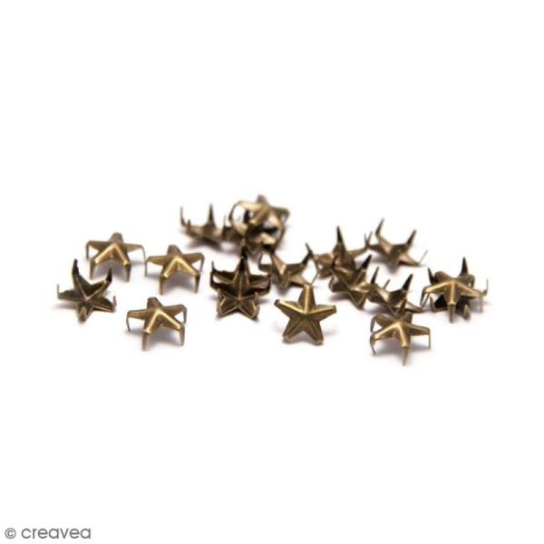 Clous à griffes - Etoiles - Bronze - 10 mm - 30 pcs - Photo n°1