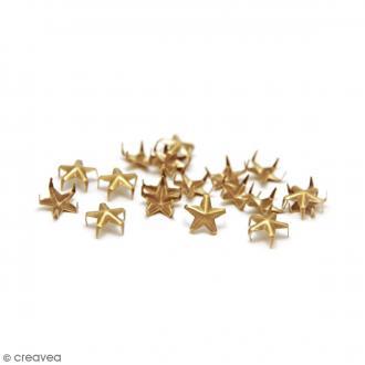 Clous à griffes - Etoiles - Or - 10 mm - 30 pcs