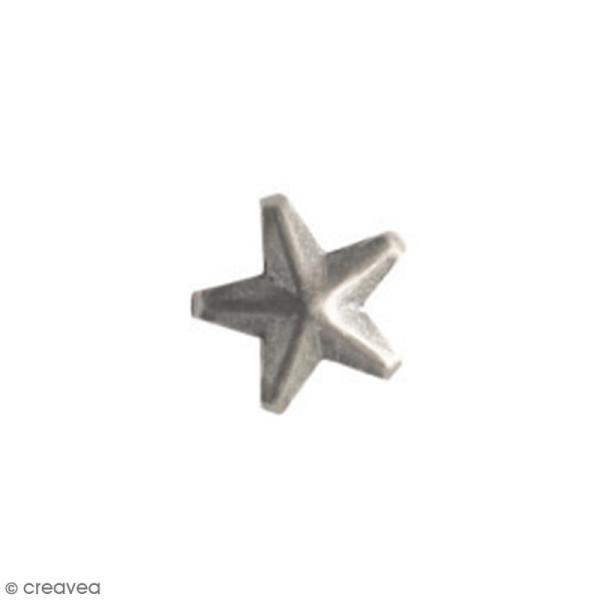Clous à griffes - Etoiles - Argenté - 7 mm - 40 pcs - Photo n°2
