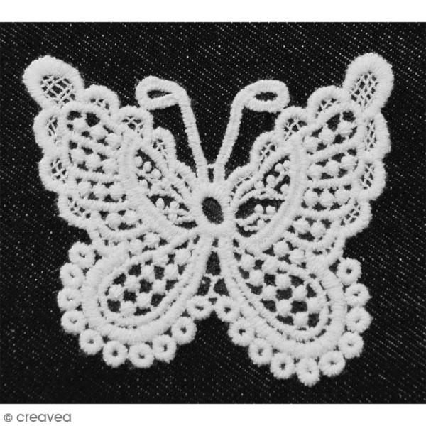 Motif thermocollant dentelle - Papillon - 8,5 x 7 cm - Photo n°2