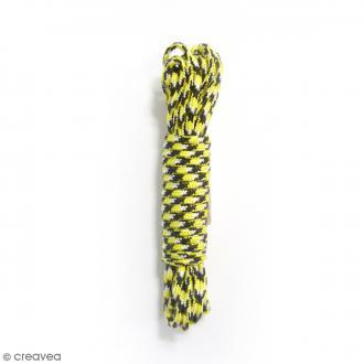 Fil Creacord bicolore - Noir & jaune Léopard - 3 m x 2 mm