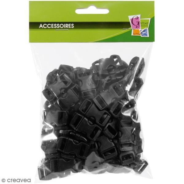 Fermoirs à clip plastique - Noir - 1,5 x 3 cm - 100 pcs - Photo n°2