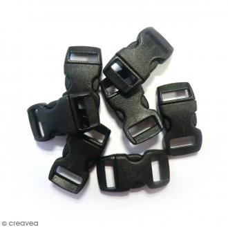 Fermoirs à clip plastique - Noir - 1,5 x 3 cm - 100 pcs