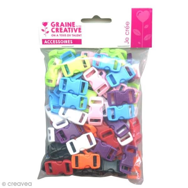 Fermoirs à clip plastique - Multicolore - 1,5 x 3 cm - 100 pcs - Photo n°2