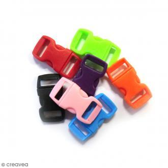 Fermoirs à clip plastique - Multicolore - 1,5 x 3 cm - 100 pcs