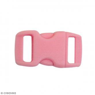 Fermoirs à clip plastique - Rose - 1,5 x 3 cm - 10 pcs