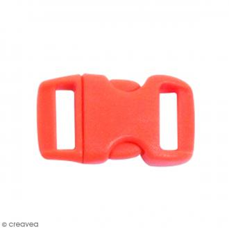 Fermoirs à clip plastique - Rouge - 1,5 x 3 cm - 10 pcs