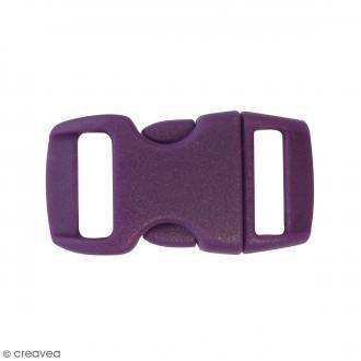 Fermoirs à clip plastique - Violet - 1,5 x 3 cm - 10 pcs