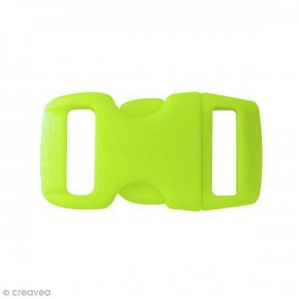 Fermoirs à clip plastique - Vert - 1,5 x 3 cm - 10 pcs