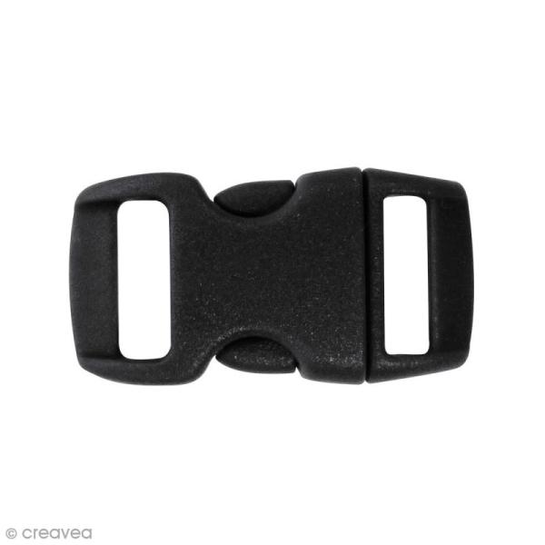Fermoirs à clip plastique - Noir - 1,5 x 3 cm - 10 pcs - Photo n°1